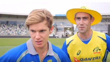 Black Caps and Aussies re-enact the underarm