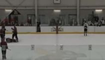 Hockey players storms out of Penalty Box and possibly kills ref