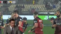 "Crusaders forward yells ""8,7,1... LOUD NOISES!!!"" in line-out"