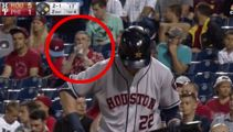 Legendary old baseball fan crushes two beers at once
