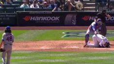 Mariners outfielder Mitch Haniger gets 95-MPH pitch to the face