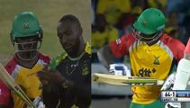 CPL bowler sledges batsman after getting him out, batsman then humiliates him in the next match