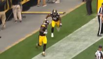 Pittsburgh Steelers celebrate a touchdown by playing Hide & Seek