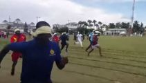Blindfold sprinting is an actual event and you can only imagine how it turns out