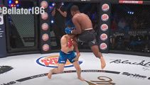 Watch this brutal flying knee knockout