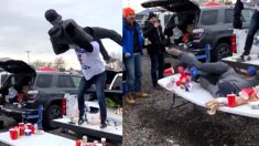 Buffalo Bills fan gets suplexed onto a table and somehow lives