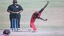 Is this the weirdest bowling action ever?