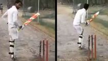 Introducing the one-legged batsman