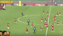 Watch 3 Pro-Football players take on 100 Japanese children
