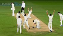 Hear G Lane's call of the Blackcaps victory in the Pink Ball Test