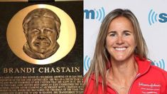 Plaque makes Brandi Chastain look like Gary Busey