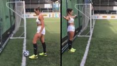 This impossible soccer goal will melt your mind