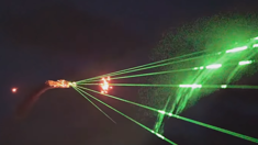 "Plane shoots lasers at crowd to the soundtrack of Darude's ""Sandstorm"""