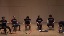 "Watch ""Sandstorm"" played on Boomwhackers"