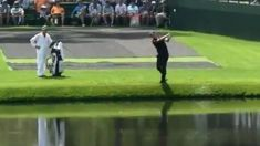 "Check out this unbelievable ""bouncing bomb"" trick shot at the Masters"