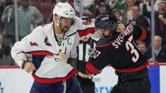 Alex Ovechkin knocks out rookie Andrei Svechnikov in fight