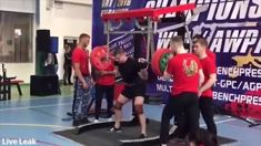 Russian weightlifter's leg snaps as he attempts to squat 250kg