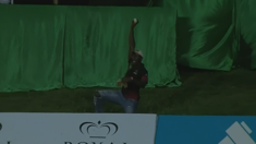 Watch this amazing one-handed crowd catch in the CPL
