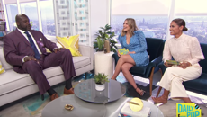 Shaquille O'Neal shoots his shot with E TV host