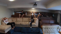 Great New Zealander's epic DIY Rugby World Cup flat grandstand