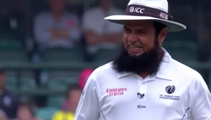 Aleem Dar running was the highlight of the Sydney test