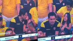 Kiss cam catches man cheating on his partner at football game